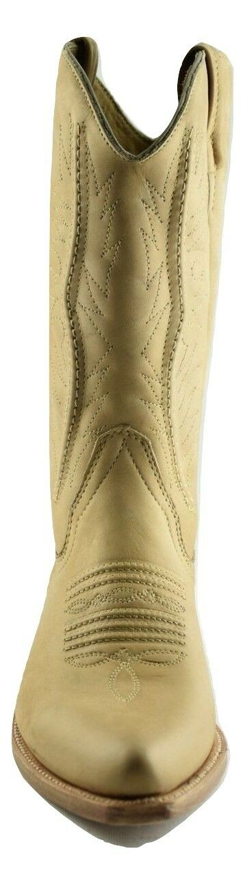 Loblan 2616 Tan Waxy Leder Cowboy Stiefel Hand Made Made Made Classic Biker Western 206 352d02