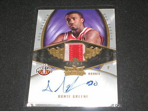 DONTE-GREENE-2008-FLEER-CERTIFIED-AUTHENTIC-AUTOGRAPHED-NBA-JERSEY-CARD-311-399