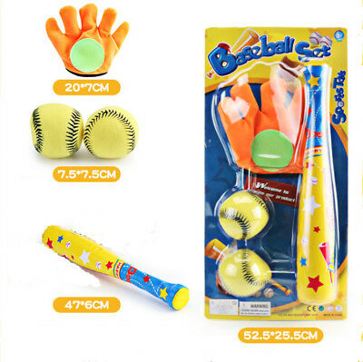 Kids Baseball Tee Game Sets Toy Sports Baseball Bat and Ball for Childs T-Ball Set for Toddlers Red