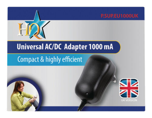 HQ Universal AC//DC Adapter 1000mA  3V 4.5V 6V 9V and 12V output 5V