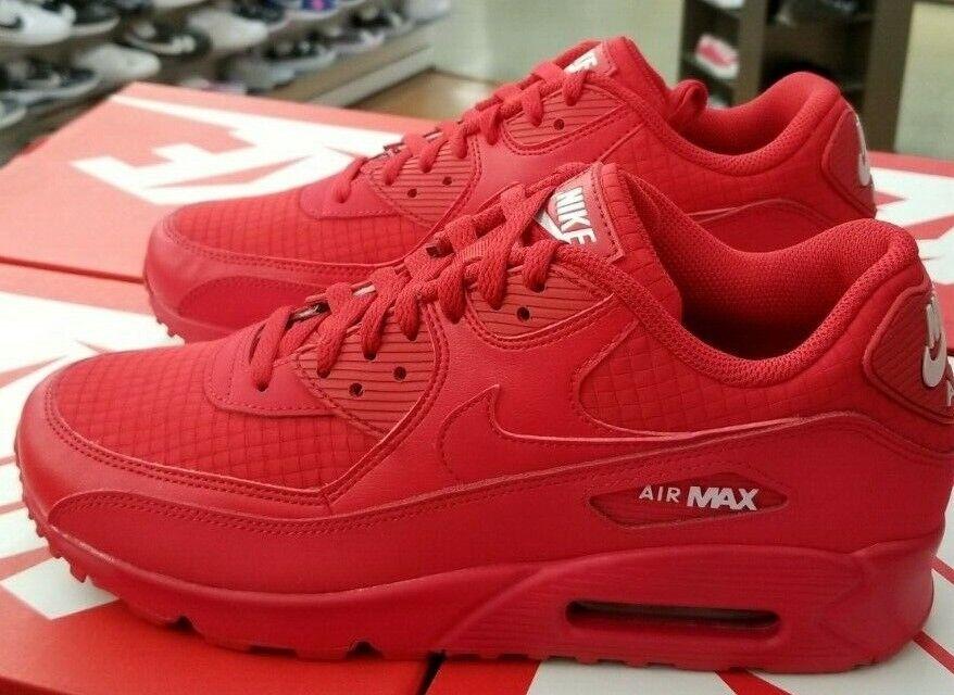 NIKE AIR MAX 90 ESSENTIAL MEN'S  UNIVERSITY RED   WHITE AJ1285 602