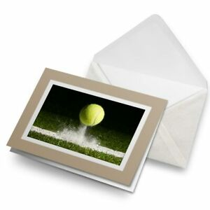 Greetings-Card-Biege-Tennis-Ball-Sports-Game-14656