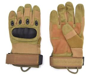 US-Army-Tactical-Hard-Knuckle-Gloves-Coyote-Tan-Combat-Security-Airsoft-Assault