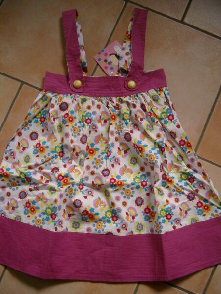 (c561) Lola Et Moi Girls Abito Spalline Vestito Abito Estivo Con Motivo Floreale Gr.116