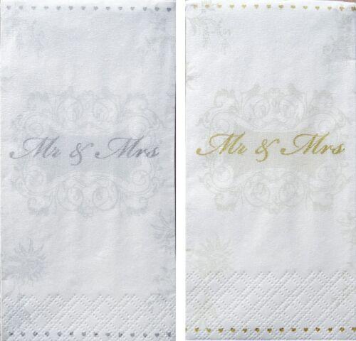 """silber/""""Hochzeit Freudentränen edel 100 Design-Taschentücher/""""Mr /& Mrs./"""" gold o"""