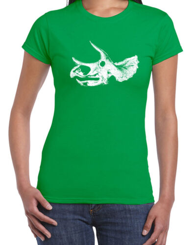 102 Triceratops Skull women/'s T-Shirt science dinosaur fossil jurassic vintage