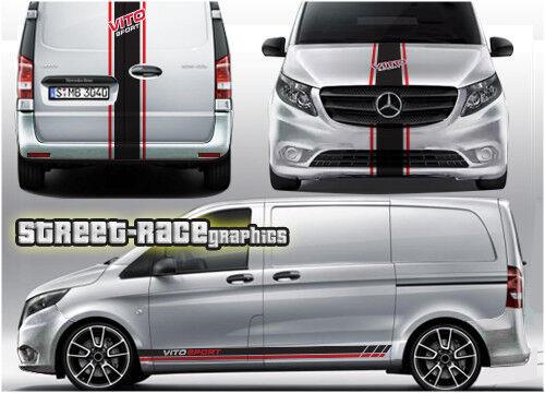 Mercedes Vito racing stripes 012 decals vinyl graphics sport van