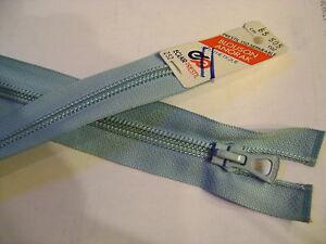 fermeture-eclair-separable-de-65-cm-bleu-modele-spirale-7-mm-NEUF-S-ETIQ-25-G