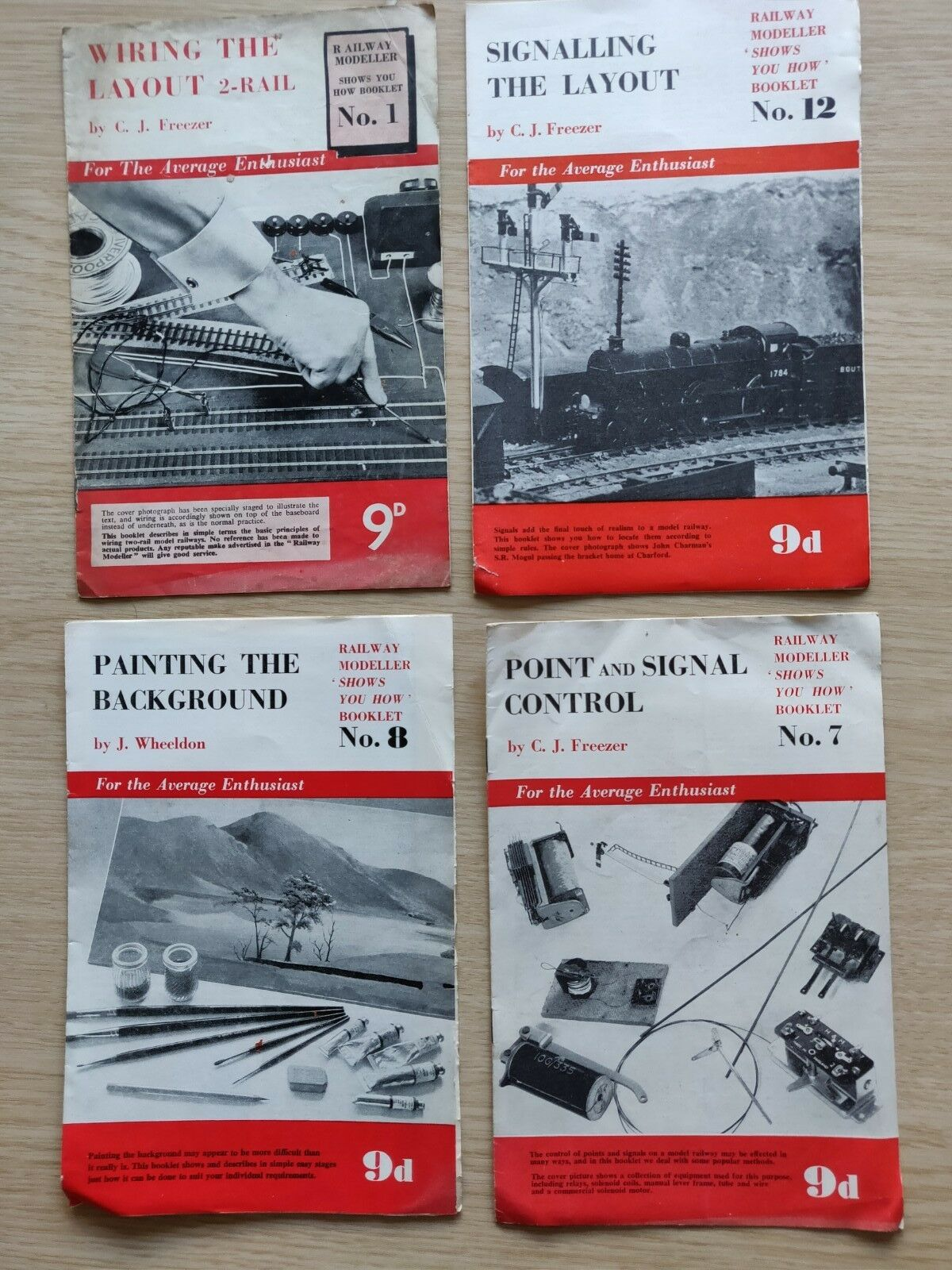 Railway Modeller Show You How Series Booklets, 1,7,8,12