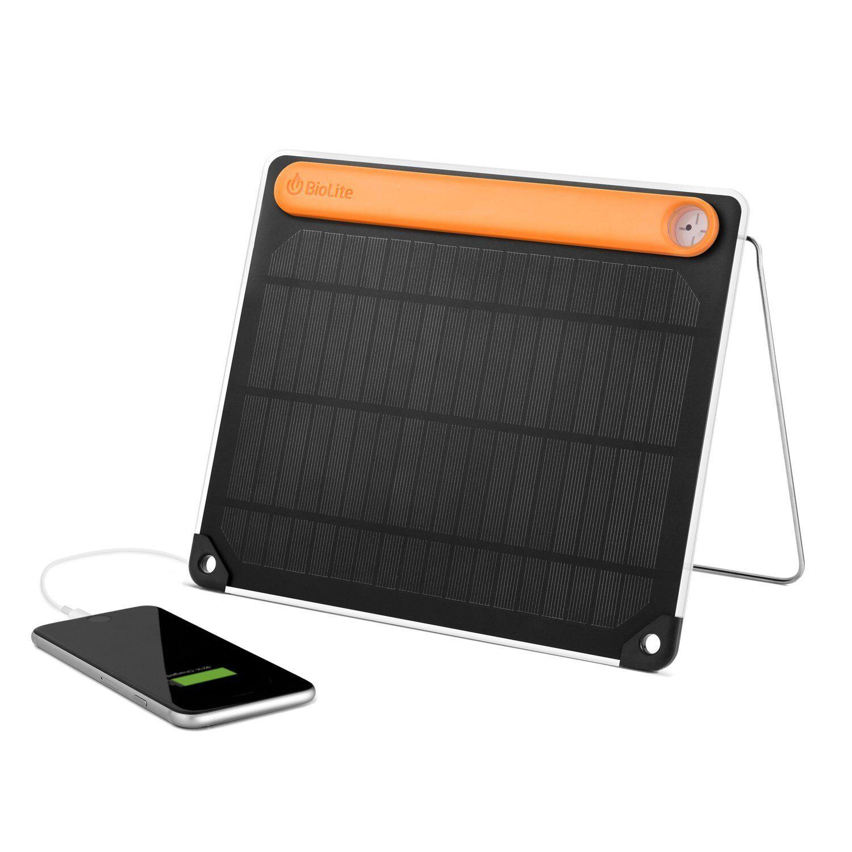 Nuevo Cargador De 5+ De Panel Solar Biolite - de 5W Micro USB y USB de - entrada salidas 2200 mAh 57cf84