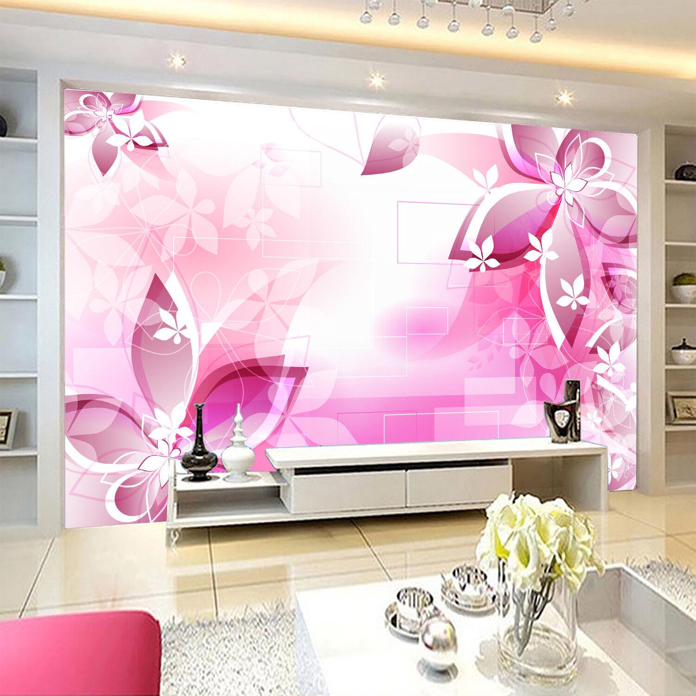 3D Petals Pink 414 Wallpaper Murals Wall Print Wallpaper Mural AJ WALLPAPER UK