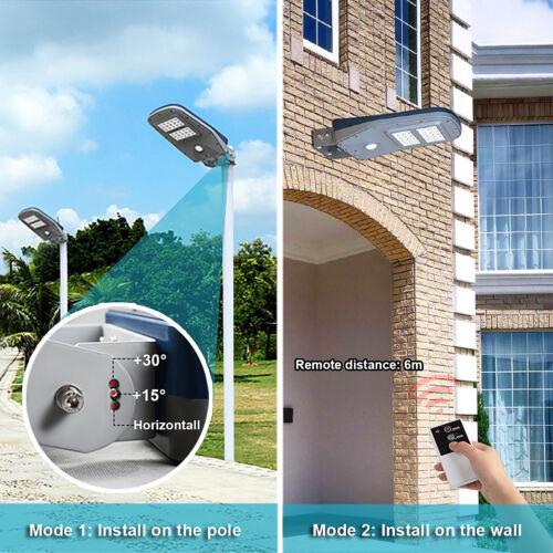 Solar Street Light Outdoor Commercial IP68 Deck Yard Motion Sensor Night Light