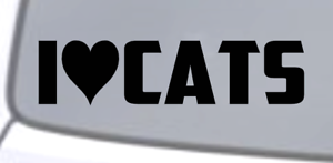 I-LOVE-CATS-Vinyl-Decal-Sticker-Car-Window-Wall-Bumper-Funny-Pet-Animal-Heart