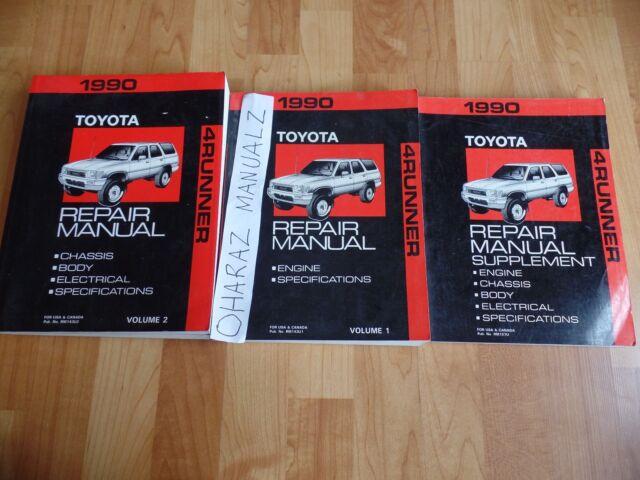 1990 Toyota 4runner 4 Runner Service Manuals Manual Oem