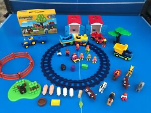 Playmobil-123-Huge-Bundle-Tbe-kg-Farm-Zoo-Vehicles-Animals-Figurines-Train-N-2