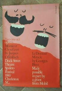 IVAN-CHENMAYEFF-Orig-Lithograph-Poster-Ca-1980-TWO-ONE-ACT-OPERAS
