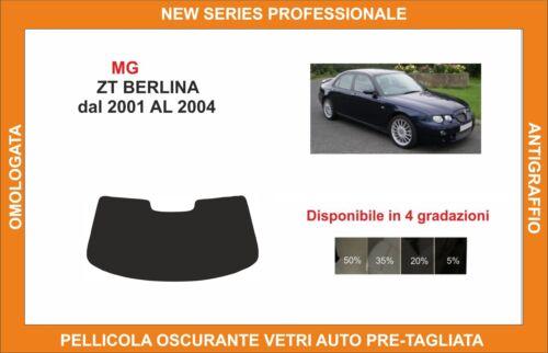 pellicola oscurante vetri pre tagliata MG ZT berlina dal 2001-04 kit lunotto