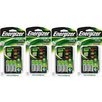 4 Pack Energizer Value Charger With Aa Rechargeable Nimh Batteries Chvcmwb-4 on sale