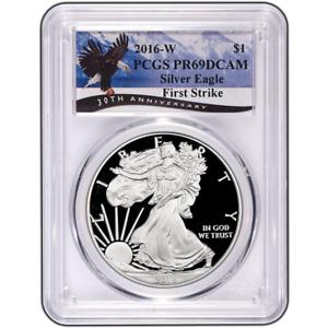 2016 W American Silver Eagle Dollar PR69DCAM PCGS