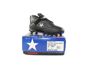 NOS-Vintage-90s-Converse-Cons-Longball-Mid-Baseball-Cleats-Black-Men-s-Size-10