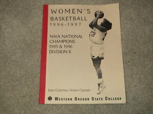 5bd8f23a8 NAIA Media Guide Women's Basketball 1996-1997 National Champions W ...