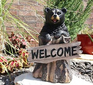 Image Is Loading 13 5 034 Tall Welcome Sign Black Bear