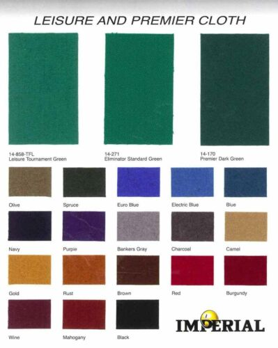 7 foot POOL TABLE BILLIARD FELT //CLOTH ~ PERMA-GUARD STAIN RESIST~STANDARD GREEN