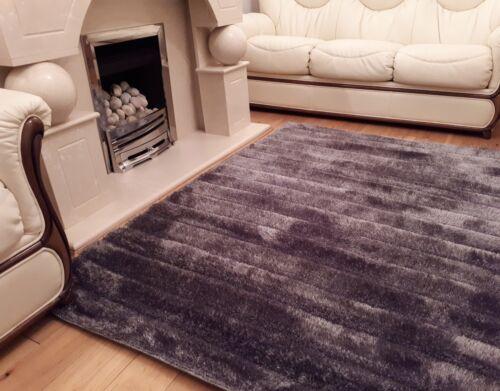 Linéaire 3D sculpté luxe moderne sol souple soyeux tapis tapis Livining chambre à coucher