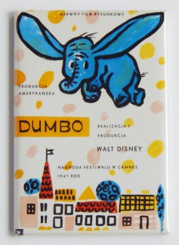 FRIDGE MAGNET movie poster Dumbo Poland