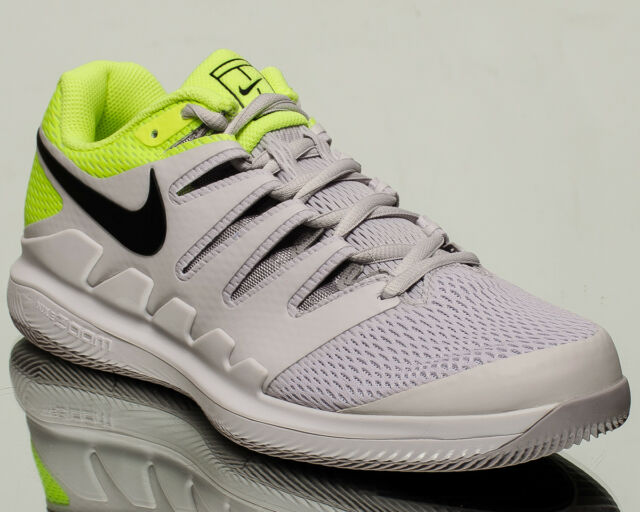 cheaper 4f441 108f0 Nike Air Zoom Vapor X HC men tennis shoes NEW vast grey black volt AA8030-