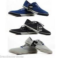 Mens Mossimo Black Blue Canvas Seymour Moss Plimsolls Casual Dress Shoes