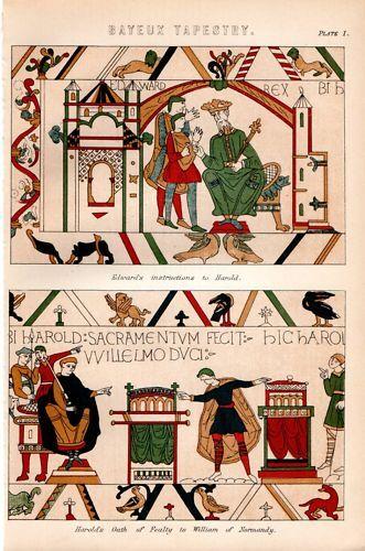 1880 Aufdruck ~ Bayeux Wandbehang Oath Von Fealty Harold Etc Einen Einzigartigen Nationalen Stil Haben
