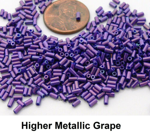 3mm TOHO Bugle Glass Beads 10-Grams Choose Color