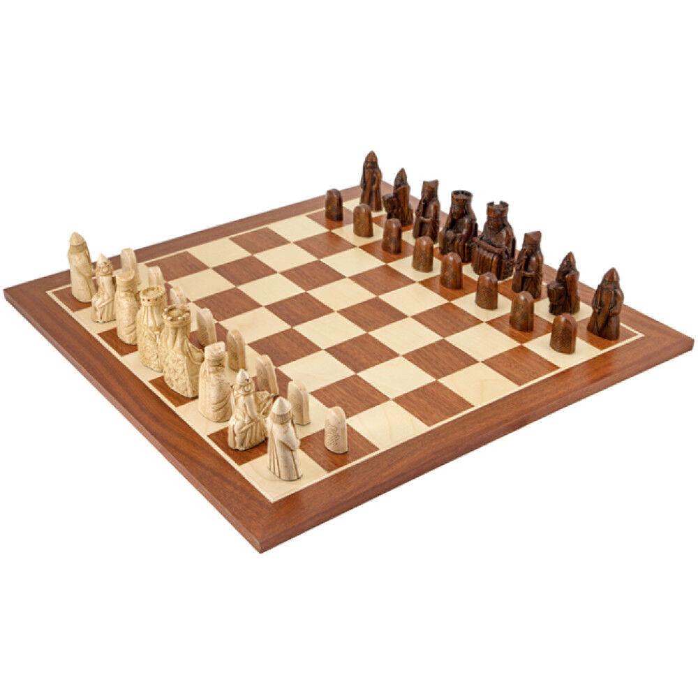 marca en liquidación de venta La isla de de de Lewis grandes Caoba juego de ajedrez  100% autentico