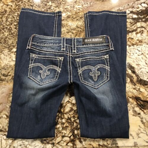 Rock Revival Alanis Bootcut Rhinestone Jeans Women