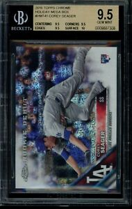 2016 Topps Update Chrome Corey Seager RC #HMT41 BGS 9.5 Gem Mint Rookie Dodgers