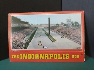 Vintage-FoldOut-Postcard-View-Book-SOUVENIR-INDIANAPQOLIS-500-Hall-of-Fame-1983