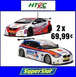 HonnêTe Superslot Pack Honda Civic Type R #25 Bmw 125 Serie 1 #7 Scalextric Uk 3734 3735 Pour RéDuire Le Poids Corporel Et Prolonger La Vie
