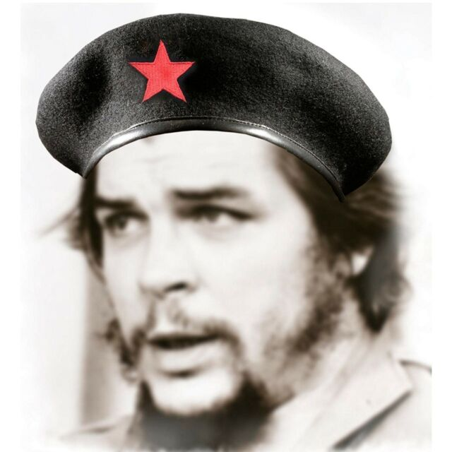 Che Guevara Beret with Red Star 100/% Wool Cuban Military Beret Cap For Men NEW