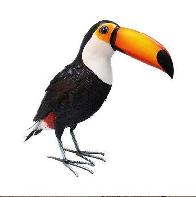 Grande Metallo Tucano Decorazione Giardino Scultura Realizzata A Mano Bird Consegna Gratuita D12- Costo Moderato