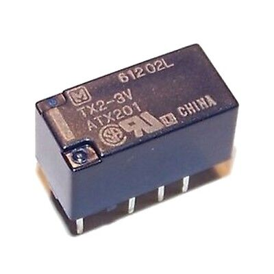 NEC DPDT PCB Relay 5V 2A Double Coil Latch Type EA2-5TNFG