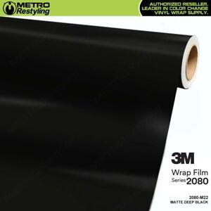 3M 2080 M22 MATTE DEEP BLACK Vinyl Vehicle Car Wrap Decal Film Sheet Roll