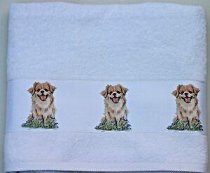 TIBETAN-SPANIEL-DOG-LARGE-HAND-GUEST-TOWEL-WATERCOLOUR-PRINT-SANDRA-COEN-ARTIST