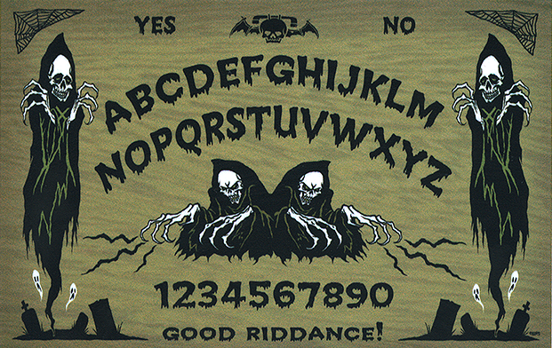 Ghoulish Ouija Board STICKER Decal Eric Pigors PG68