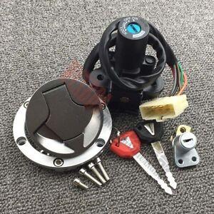 Ignition Switch Fuel Cap Seat Lock Key Set For KAWASAKI 08-12 Ninja 250R EX250J