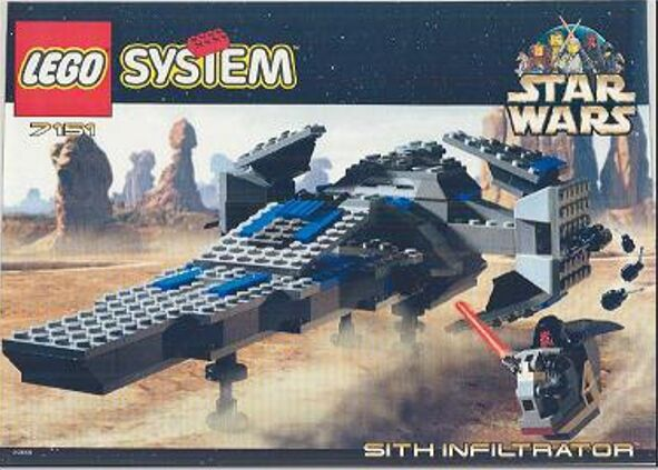 LEGO 7151 - Stern Wars - Sith Infiltrator - 1999 - NO BOX