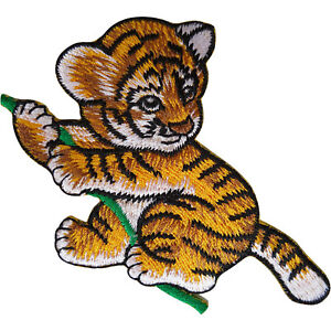 Tiger-Patch-Iron-Sew-On-Clothes-Bag-Embroidered-Badge-Animal-Embroidery-Applique