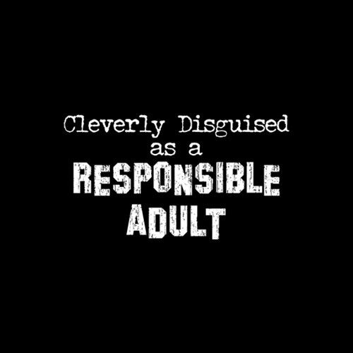 Cleverly Disguised Responsible Adult  Tshirt   Sizes