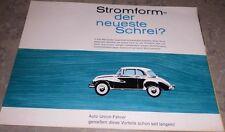 ORIGINAL AUTO UNION 1000 PROSPEKT LIMOUSINE UNIVERSAL DKW STROMLINIE OLDTIMER