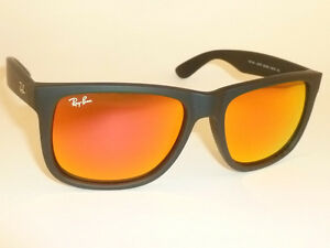 bc35591c57 New RAY BAN Justin Sunglasse Matte Black Rubber RB 4165 622 6Q Red ...